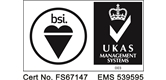 We are certified to BS EN ISO 9001 2008 quality and 14001 2004 environmental