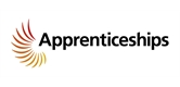 the text 'Apprenticeships' with multiple gold wings going around the 'A'.