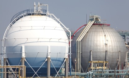 large oil and gas storage containers to represent upstream and downstream packages page.