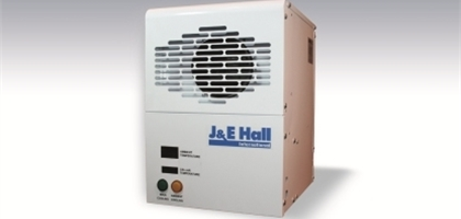 J&E Hall cooler unit on a faded background used to showcase J&E Hall's ambient beer cooler unit.