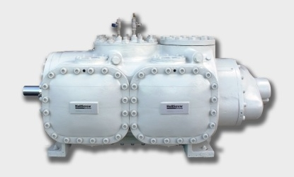 view of a compressor on a white background.